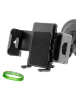 Adjustable Windshield or Vent Car Mount Black Compatible with Motorola Cliq 2 3G Android Phone + Live * Laugh * Love VG Wristband!!