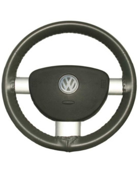 Wheelskins Genuine Leather Charcoal Steering Wheel Cover-Size C