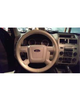 Wheelskins Genuine Leather Sand Steering Wheel Cover-Size C