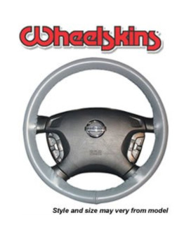 Wheelskins Original One Color Genuine Leather Steering Wheel Cover Charcoal Size AXX