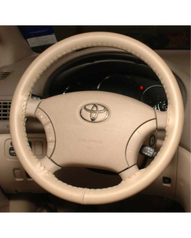 Wheelskins Toyota Genuine Leather Sand Steering Wheel Cover-Size AXX