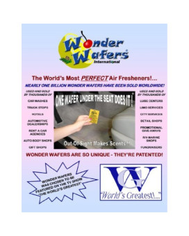 Wonder Wafers 10 CT Individually Wrapped Air Fresheners Cinnamon Spice