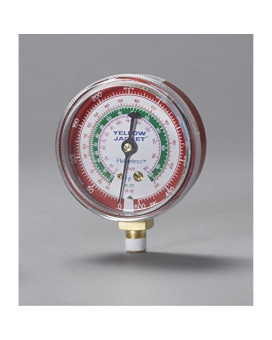 "Yellow Jacket 49001 2-1/2"" Gauge (degrees F), Red Pressure, 0-500 psi, R-12/22/502"