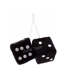 Zone Tech Black Hanging Dice- A Pair
