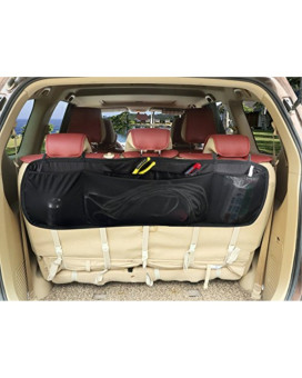 Zone Tech Premium Quality Collapsible 5 Pocket Auto Interior Removable Multipurpose Black Cargo Kid's Accessories-Toys-Tools-Sports Gear-Emergency Equipment- Backseat Trunk Car Storage Organizer