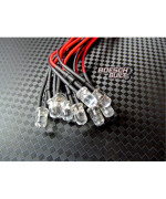 Qty 10- LED Lights- 5mm pre wired 12 volt leds- 12V White