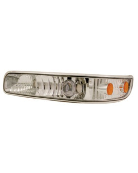 IPCW CWC-CE16-A Crystal Clear LED Front Projector Park Signal Lamp with Amber Reflector - Pair