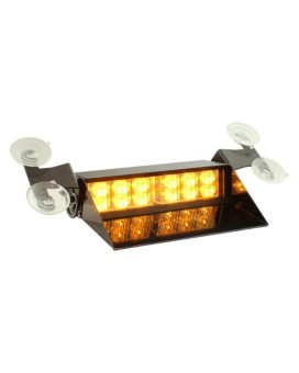 LAMPHUS SolarBlast 12W LED Truck Emergency Vehicle Windshield Strobe Warning Dash Light ( OTHER COLOR AVAILABLE ) - AMBER