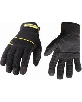 youngstown glove 03-3060-80-xl general utility plus performance glove xlarge, black