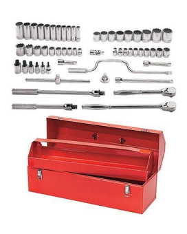 williams wss-57tb 12 point 1/2-inch drive socket/tool set with tool box, 57 piece