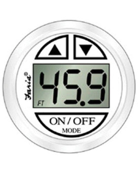 faria 13150 dress depth sounder with transom mounted transducer