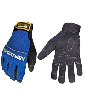 youngstown glove 06-3020-60-m mechanics plus performance glove medium, blue