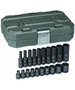 gearwrench 84900 1/4-inch drive impact socket set sae, 20-piece