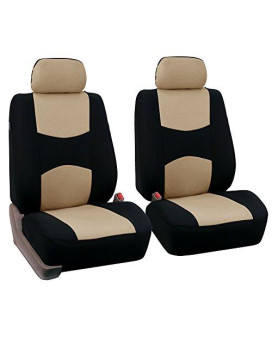 universal car seat cover two front seat cover airbag compatible, airbags ready, front seat cover fb051 beige/black front
