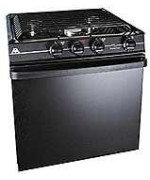 atwood mobile products 52373 wedgewood black 17 piezo oven range 3 burner