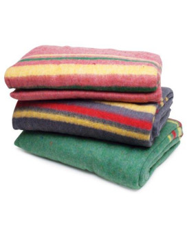roadpro rpapb1 85 x 62 assorted colors travel blanket