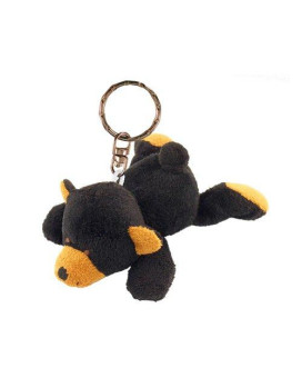 puzzled plush keychain - black bear
