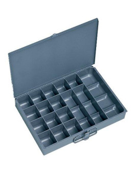 Durham 227-95-IND Gray Steel Individual 17 Compartment Small Scoop Box, 13-3/8 Width x 2 Height x 9-1/4 Depth
