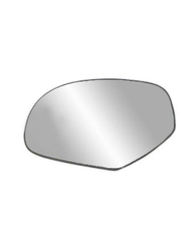 fit system 33204 driver side heated replacement mirror glass with backing plate