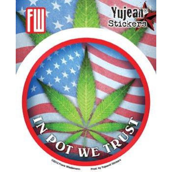 Frank Wiedemann - In Pot We Trust Green Leaf - Sticker / Decal