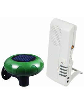 safety technology international sti-v34100 wireless solar powered driveway monitor with  voice receiver