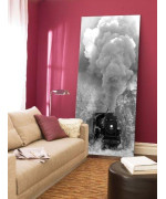 steam train canvas wall art print, 5 stars gift 23.62 x 47.2 inch