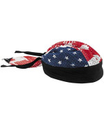 ZANheadgear Vented Sport Flydanna with Patriotic Design (Multi Color, One Size)