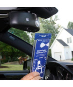 mirortag charm by jl safety- a novel way to protect, display & put away a handicapped parking placard. this handicap placard holder comes with a detachable strong magnet charm that will never melt or bend or break in the sun. magnetically snap on & off yo