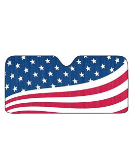 Team ProMark AS2US01 US Flag Universal Auto Sun Shade