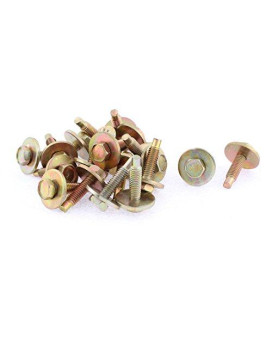 uxcell 20Pcs Bronze Tone Car Metal Screw Body Fender Retainer Clips