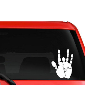 Jerry Garcia Hand print Grateful Dead funny musical car truck SUV window laptop wall macbook decal sticker Approx. 6x5 inches white