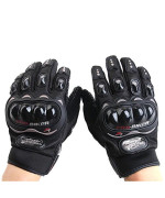 iNewcow Sports Bicycle Motorcycle Racing Cross-Country Protective Gloves 1 Pair(Black Size L)