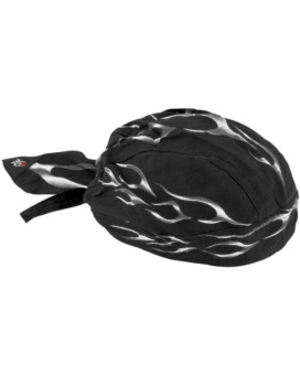 Zan Headgear Tank Flame Flydanna Cruiser Motorcycle Headwear - Black / One Size Fits Most