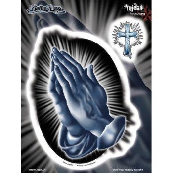 Yujean Products Rolling Low Praying Hands Sticker (JA349)