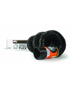 CamcoRhinoFLEX 10ft Heavy Duty RV Sewer Hose, Reinforced with Steel Wire, Hose Only - No Fittings Included