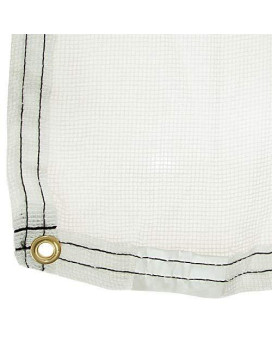 Poly Burlap Tarp, Color May Vary From White To Beige (12.5 Feet X 24 Feet)