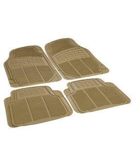 Rubber Queen 70503 4 Piece Vinyl Floor Mats - Beige