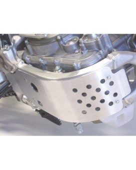 Works Connection 10-036 Silver Motocross MX Dirt Bike Skid Plate