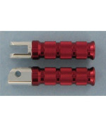 Emgo 50-11262 Red Anodized Aluminum Rear Round Foot Pegs