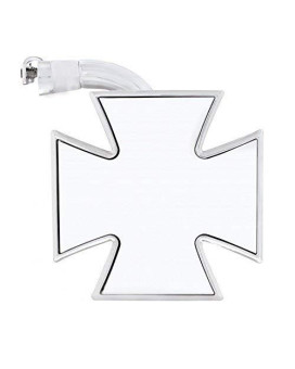 """United Pacific M1006 4"""" Maltese Cross Mirror With Curved Arm"""