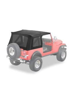 Bestop 55729-15 Black Denim Supertop Replacement Skins w/Tinted Windows 1976-1995 Jeep CJ7 and Wrangler