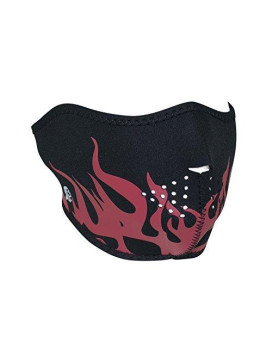 Zanheadgear Neoprene Half Face Mask, Red Flames