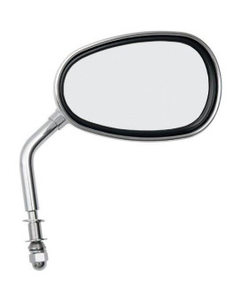 Emgo 20-86837 Chrome Finish Replacement Mirror for Harley Davidson Cruiser