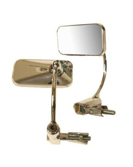 Emgo Universal Bar-End Mirror - in.EL Chico,in. 2in. H x 4 1/2in. W for 7/8in. Handlebars Either 20-34020