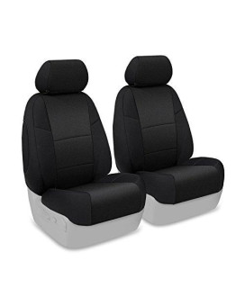Coverking Custom Fit Front 50/50 Bucket Seat Cover for Select Toyota Pickup Models - Neosupreme Solid (Black)