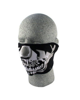 ZANheadgear Neoprene Skull Half Face Mask (Chrome/Black)