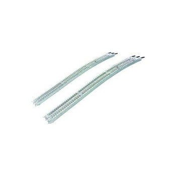 Yutrax TX138 Silver 83-inch Aluminum Extreme Capacity Arch Ramps - Pair, 2500lb Capacity