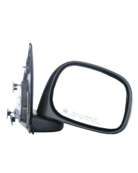 CIPA 46431 OE Replacement Electric Heated Outside Rearview Mirror (Black) - Passenger Side