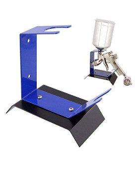 TCP Global Brand Benchtop Gravity Feed Spray Gun Holder Stand, Holds Auto Paint HVLP Guns, Table or Bench Top