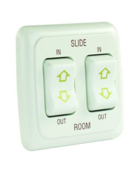 JR Products 12085 White Double Slide-Out Switch Assembly with Bezel